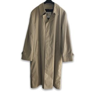 Vintage London Fog Trench Coat Duster Tan Size 42